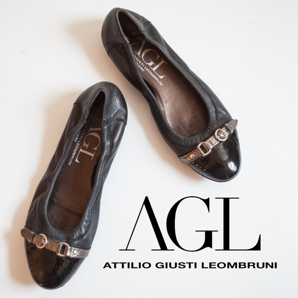 8cd1b20d13 Attilio Giusti Leombruni Shoes | Agl Cap Toe Ballet Flat In Black ...